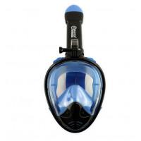 Celotvárová maska na šnorchlovanie MASTER S-M - čierna/modrá