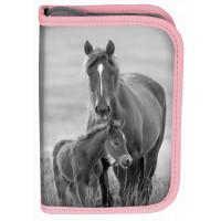 Peračník s príslušenstvom PASO HORSE 19 x 13 x 4 cm - ružovo-sivý