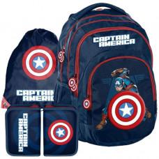 Školský set PASO Captain America - školská taška + peračník + vak na telocvik Preview