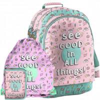 Školský set PASO SEE GOOD IN ALL THINGS - školská taška + peračník + vak na telocvik