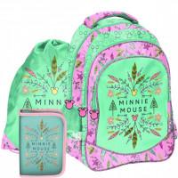 Školský set PASO Minnie Mouse - školská taška + peračník + vak na telocvik