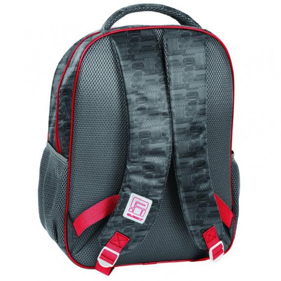 PASO školská taška Cars 42 x 31 x 16 cm - Sivá
