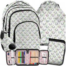 Školský set PASO Panda Bamboo - školská taška + peračník + vak na telocvik Preview