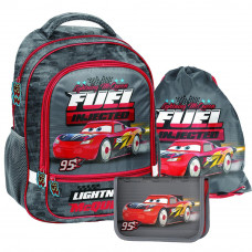 PASO školský set CARS 2020 školská taška + peračník s príslušenstvom + vak na telocvik Preview