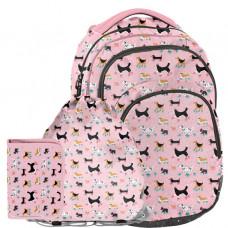 Školský set ružový Psíček PASO - školská taška + peračník + vak na telocvik Preview