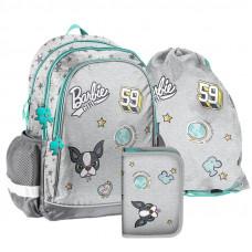PASO školský set BARBIE GREY - školská taška + peračník + vak na telocvik