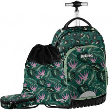 Školský set PASO Jungle školská taška na kolieskach + peračník + vak na telocvik Preview