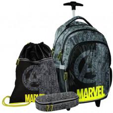 Školský set PASO Marvel školská taška na kolieskach + peračník + vak na telocvik Preview