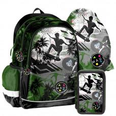PASO školský set MAUI SKATE - školská taška + peračník + vak na telocvik Preview