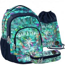 PASO školský set MAUI PALMS - školská taška + peračník + vak na telocvik Preview