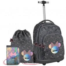 Školský set PASO Minnie Mouse školská taška na kolieskach + peračník + vak na telocvik Preview