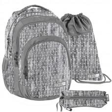 PASO školský set HEART - školská taška - peračník + vak na telocvik