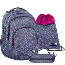 PASO školský set FLOWER - školská taška + peračník + vak na telocvik Preview