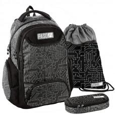 PASO školský set MATRIX - školská taška + vak na telocvik + peračník Preview