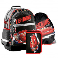 PASO školský set CARS školská taška + peračník s príslušenstvom + vak na telocvik