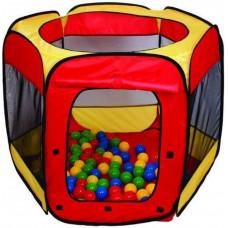 Detský hrací stan s loptičkami - červený/žltý Inlea4Fun Preview