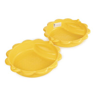 Dvojstranné pieskovisko v tvare mušle - Žlté Inlea4Fun