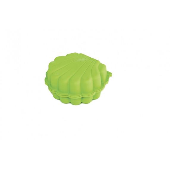 Dvojstranné pieskovisko v tvare mušle - Zelené Inlea4Fun