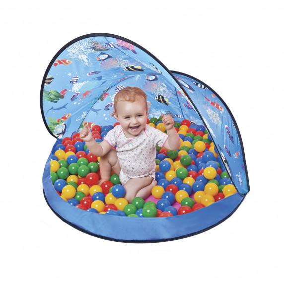 Tent Blue Stan s loptami - modrý  Inlea4Fun