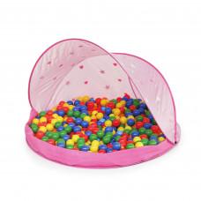 Tent Pink Stan na pláž s loptami - Ružový Inlea4Fun Preview