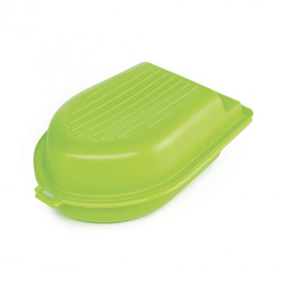 Dvojstranné pieskovisko v tvare člna - Zelené Inlea4Fun