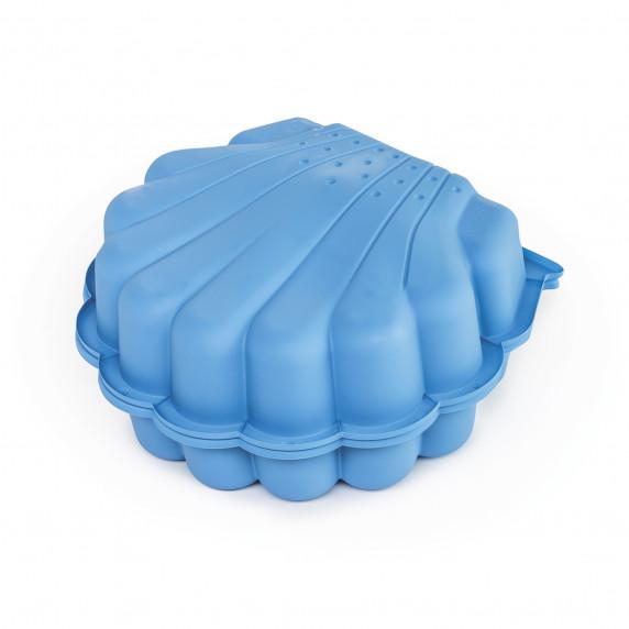 Dvojstranné pieskovisko v tvare mušle - Modré Inlea4Fun