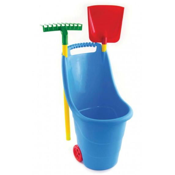 Záhradný vozík s náradím na kolieskach pre deti Inlea4Fun