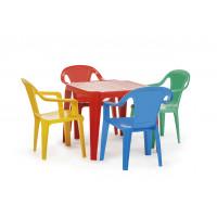 PARADISO TOYS detský plastový stôl so stoličkami