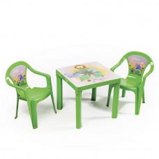 2 stoličky + 1 stolík  - Zelená Inlea4Fun Preview
