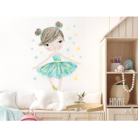 Dekorácia na stenu CHARACTERS Ballerina - Balerinka mätová