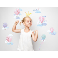 Dekorácia na stenu BALLONS  - Balóniky ružové