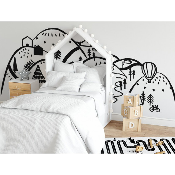 Dekorácia na stenu BLACK MOUNTAINS 150  x 75 cm  - S
