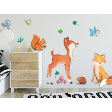 Dekorácia na stenu ANIMALS Forest Friends - Lesné zvieratká Preview