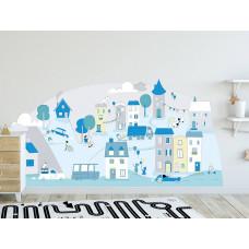Dekorácia na stenu MINT SMALL TOWN 178  x 86 cm  - L Preview