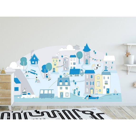 Dekorácia na stenu MINT SMALL TOWN 178  x 86 cm  - L