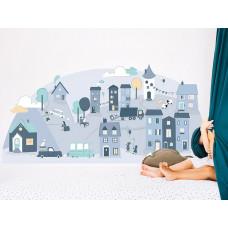 Dekorácia na stenu BLUE SMALL TOWN 150  x 72 cm  - S Preview