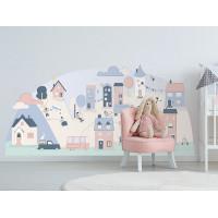 Dekorácia na stenu PINK SMALL TOWN 178  x 86 cm  - L