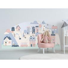 Dekorácia na stenu PINK SMALL TOWN 178  x 86 cm  - L Preview