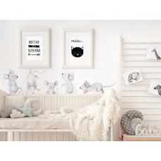 Dekorácia na stenu ANIMALS Mice Family - Myšia rodina Preview