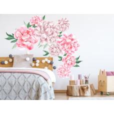 Dekorácia na stenu SECRET GARDEN Peonies - Kvety pivonky ružové Preview