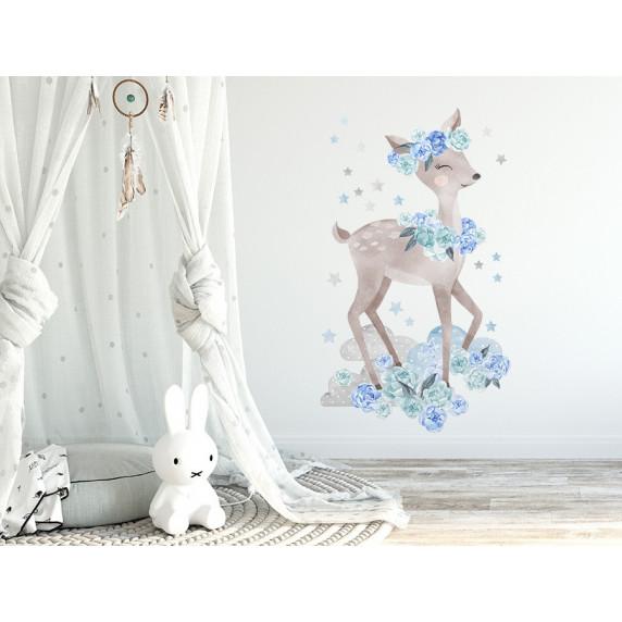 Dekorácia na stenu SECRET GARDEN Roe - Srnka modrá