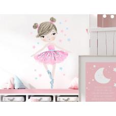 Dekorácia na stenu CHARACTERS Ballerina - Balerinka ružová Preview