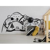 Dekorácia na stenu BLACK MOUNTAINS 180  x 90 cm  - L