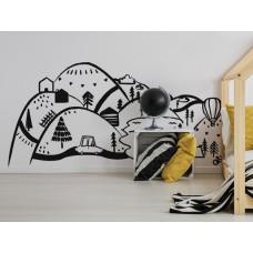 Dekorácia na stenu BLACK MOUNTAINS 150  x 75 cm  - S Preview