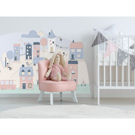 Dekorácia na stenu PINK SMALL TOWN 150  x 72 cm  - S