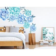 Dekorácia na stenu SECRET GARDEN Peonies - Kvety pivonky modré Preview