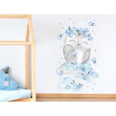 Dekorácia na stenu SECRET GARDEN Owl - Sovička modrá Preview