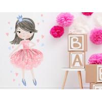Dekorácia na stenu CHARACTERS Princess - Princezná ružová