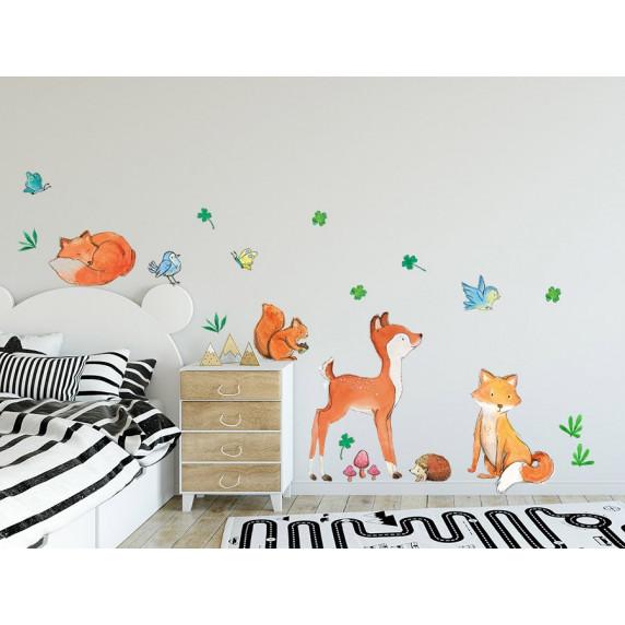 Dekorácia na stenu ANIMALS Forest Friends - Lesné zvieratká