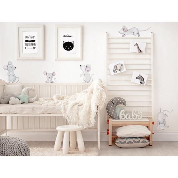 Dekorácia na stenu ANIMALS Mice Family - Myšia rodina